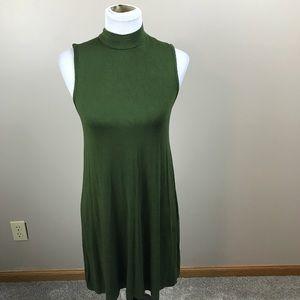 Olive Green Midi Dress By Ultra Flirt